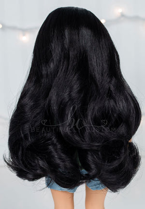Ebony Black - Limited Edition *Slightly Textured* Deluxe Paradise Wig (Size 11)