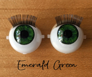 Emerald Green - Standard Blinking Doll Eyes (Light Tan Eyelids)