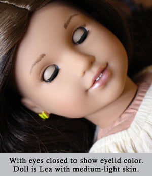 Deep Cerulean - Standard Co-op Open/Close Doll Eyes (Light Tan Eyelids)