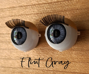 Flint Gray - Standard Blinking Doll Eyes (Very Pale Eyelids)