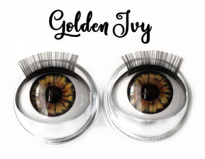 Golden Ivy - Standard Co-op Open/Close Doll Eyes (Light Tan Eyelids)