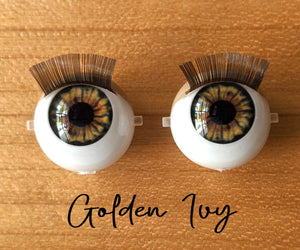 Golden Ivy - Standard Blinking Doll Eyes (Light Tan Eyelids)