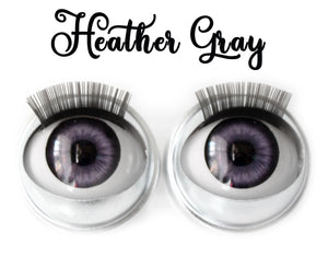 Heather Gray - Standard Co-op Open/Close Doll Eyes (Light Tan Eyelids)
