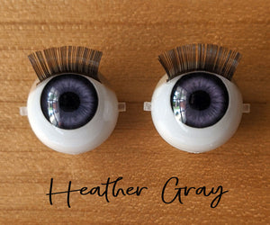 Heather Gray - Standard Blinking Doll Eyes (Light Tan Eyelids)
