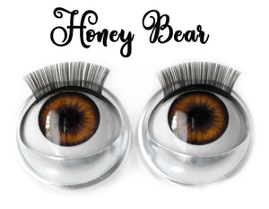 Honey Bear - Standard Co-op Open/Close Doll Eyes (Very Pale Eyelids)