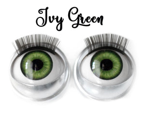 Ivy Green - Standard Co-op Open/Close Doll Eyes (Very Pale Eyelids)