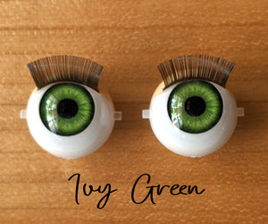 *DWC* PRE-ORDER: Standard Open/Close Doll Eyes - Ivy Green