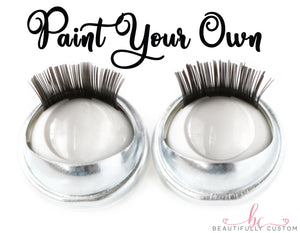 Paint Your Own Blank Premium Open/Close Doll Eyes