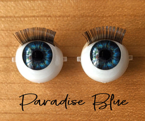Blue Paradise - Standard Blinking Doll Eyes (Light Tan Eyelids)