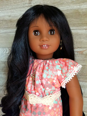 Ebony Black - Limited Edition *Slightly Textured* Deluxe Princess Wig (Size 11)