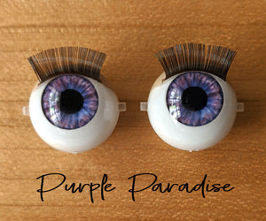 Purple Paradise - Standard Blinking Doll Eyes (Light Tan Eyelids)