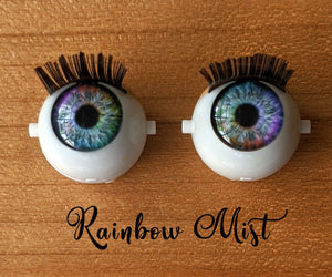 Premium Open/Close Doll Eyes – Rainbow Mist