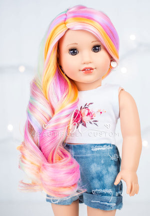 *SECONDS QUALITY* Deluxe Paradise Wig - Rainbow Sherbet (Size 11)