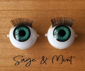 Sage & Mint - Standard Blinking Doll Eyes (Light Tan Eyelids)