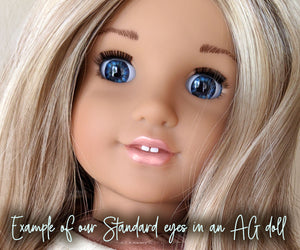 Brown Sugar - Standard Blinking Doll Eyes (Light Tan Eyelids)
