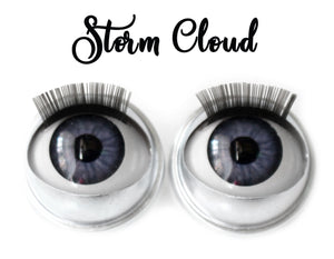 Storm Cloud - Standard Co-op Open/Close Doll Eyes (Light Tan Eyelids)