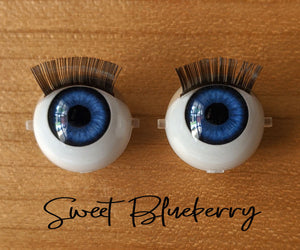 Sweet Blueberry - Standard Blinking Doll Eyes (Light Tan Eyelids)