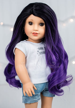 *SECONDS QUALITY* Wickedly Purple - Limited Edition *Lightly Textured* Deluxe Paradise Wig (Size 11)