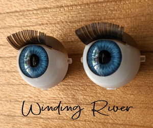Winding River - Standard Blinking Doll Eyes (Light Tan Eyelids)
