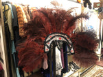 Women's Hats: Vintage 1920s—1930s-Style Burgundy, Black, and Silver Showgirl Feathered Headdress
