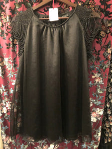 Women's Tops: Vintage Black Chiffon Top