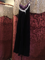 Women's Dresses: Vintage Dark Purple Velvet Dress