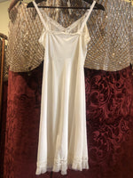 Women's Lingerie: Vintage White A-Line Polyester Jersey w/ pleated trim detail