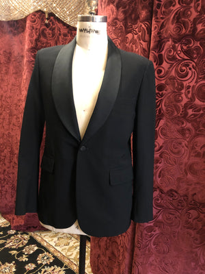 "Men's Tuxedo & Dinner Jackets: ""Jos. A Bank"" Shawl Collar Tuxedo Jacket with Satin Lapels"