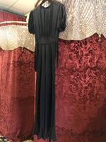 Women's Dresses: Vintage Black Empire Waist Dress