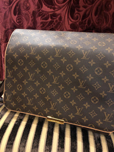 "Vintage Purses: Reproduction Vintage ""Louis Vuitton"" Replica Signature Print Messenger Bag"