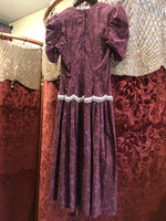 Women's Dresses: Vintage Burgundy & White Dress