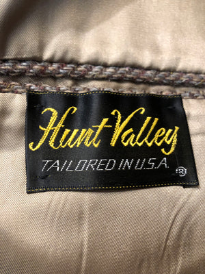 Men's Blazers & Sportcoats: 1950s Hunt Valley Brown Herringbone Tweed