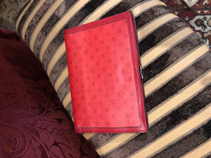 "Vintage Purses: 1970s ""Fendi"" Red Leather Wallet"