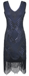 Midnight Blue Flapper Dress