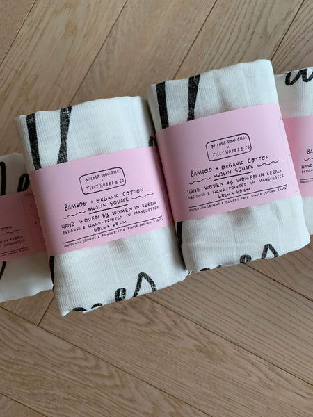 All of Me bamboo + organic cotton baby muslin cloth
