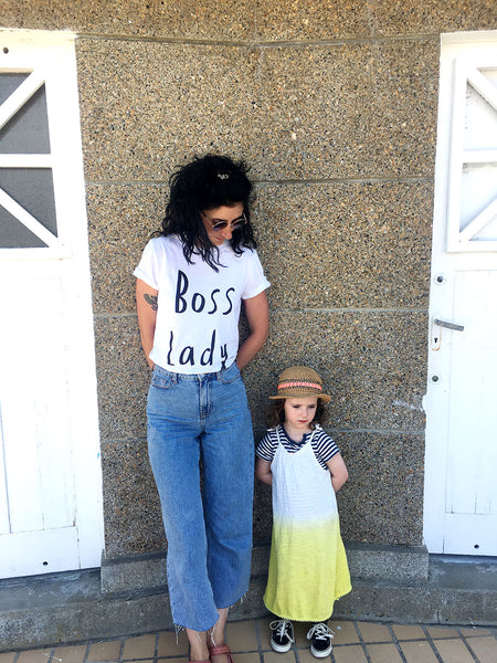 Boss Lady Tee Organic cotton: white