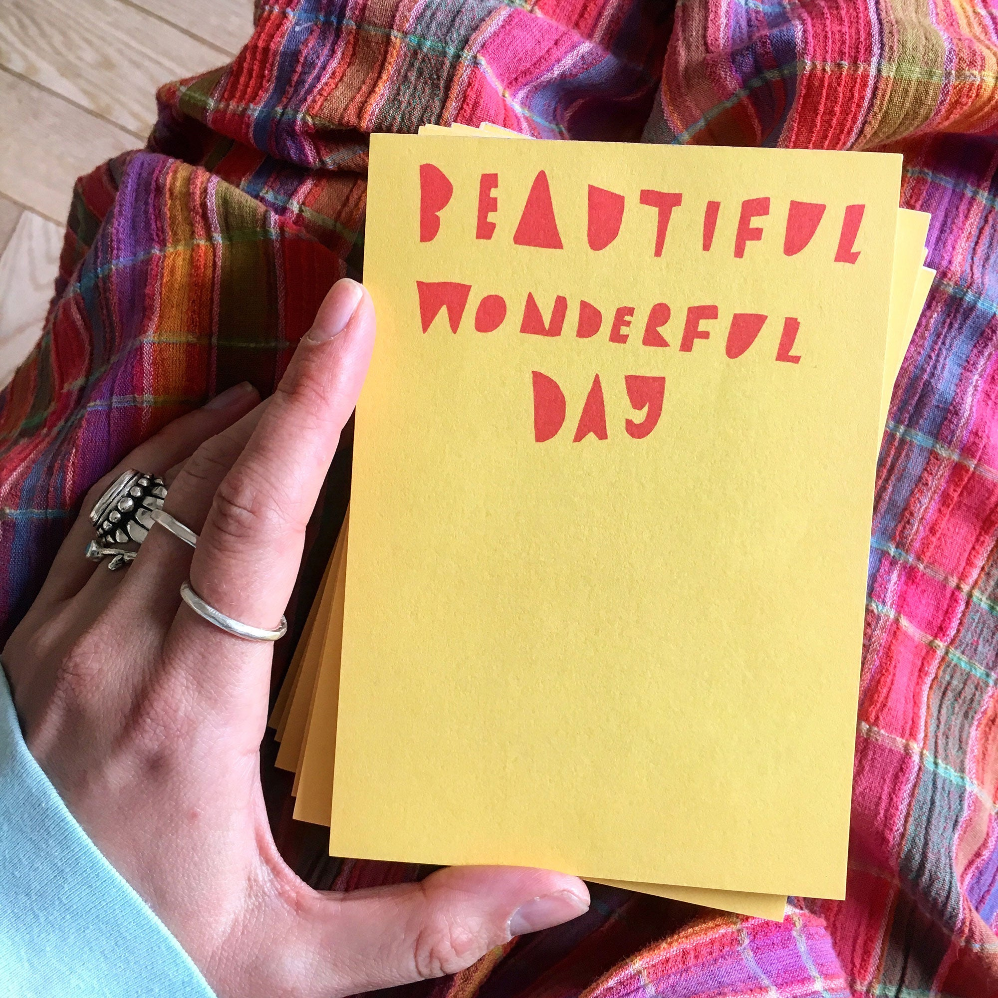 Desk Jotter: Beautiful Wonderful Day