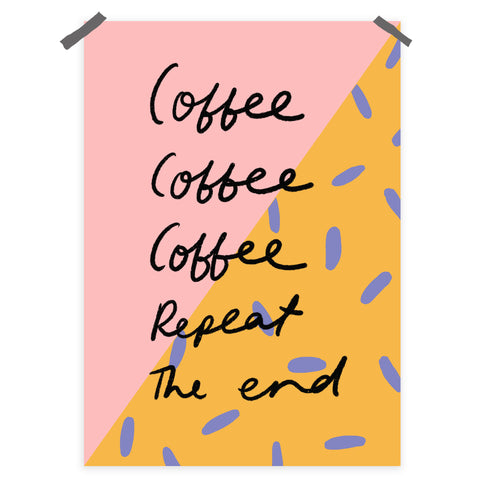 Coffee Repeat print