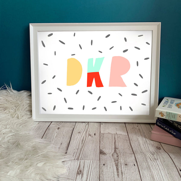 Family Letters print