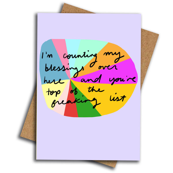 Counting my blessings card