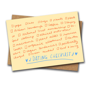 Dating checklist card