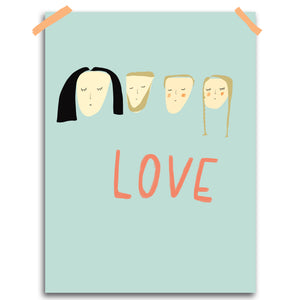 Custom family print: LOVE