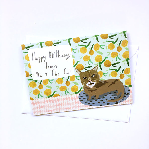 Happy Birthday from me & the cat card