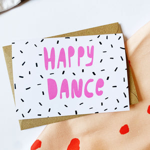 HAPPY DANCE card