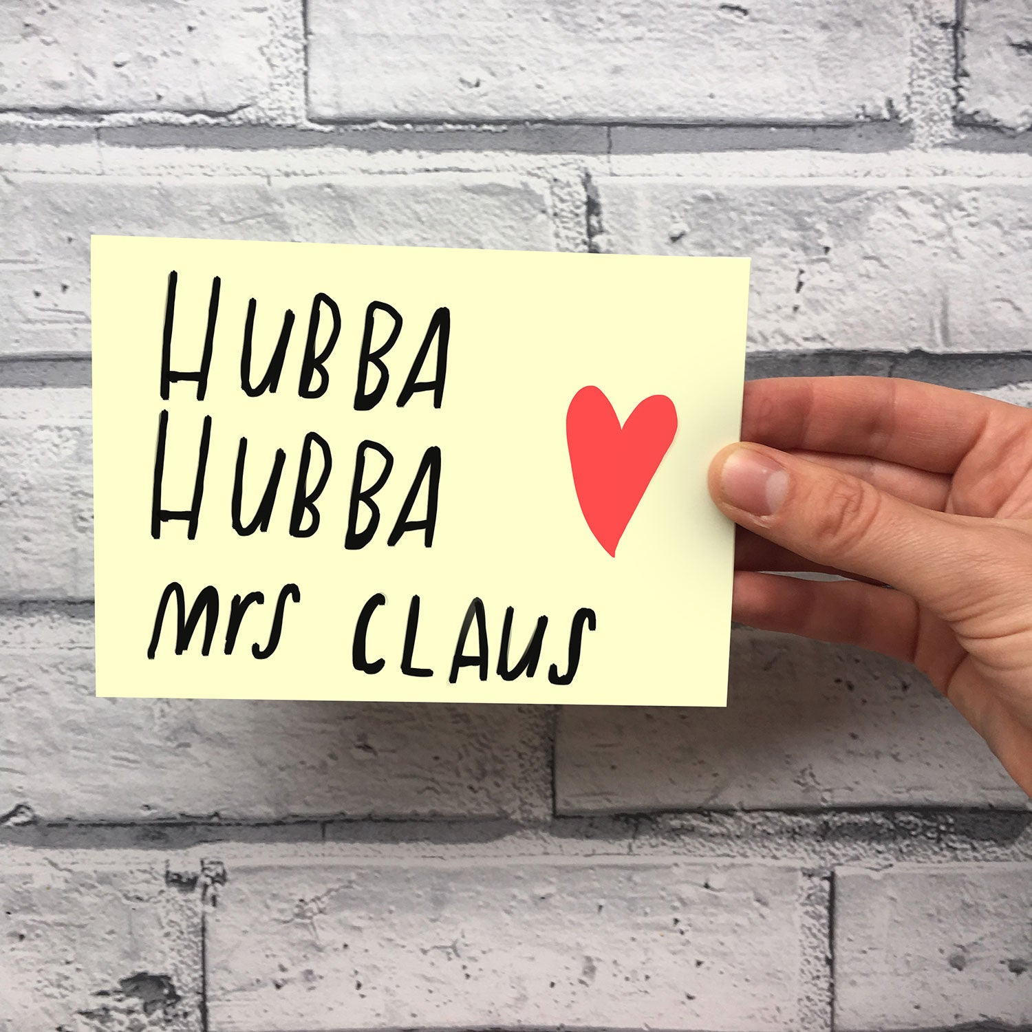 hubba hubba mrs claus christmas card