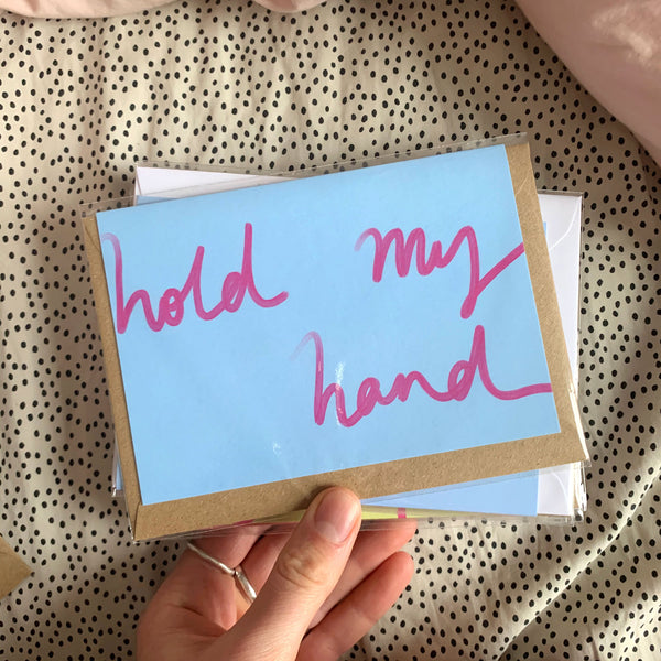 Hold My Hand card