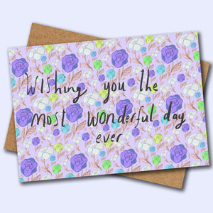 Wonderful Day card