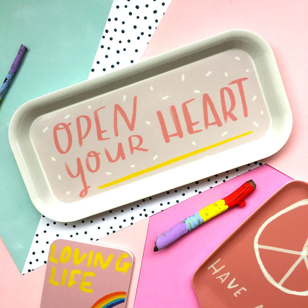 Open Your Heart Small Tray