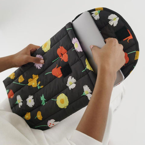 "Puffy Laptop Sleeve 16"": desert wildflower"