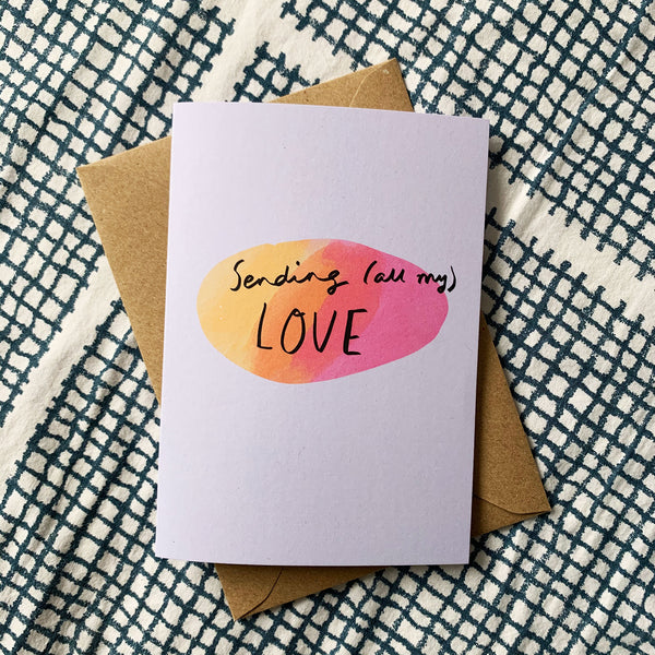 Sending (all my) love card
